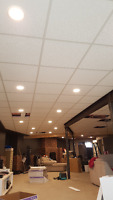 T bar ceiling from  $1,20 sq'ft