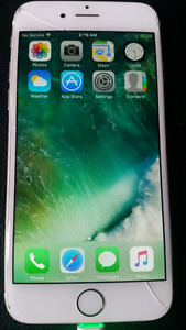 Gold Apple IPhone 6 *Cracked Screen*