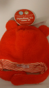Baby Pumpkin Bear Hat W/ Magnetic Closure NEW IN PKG Age 18-24m