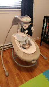 Baby swing - Ingenuity Inlighten Cradling Swing & Rocker - Orson