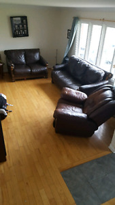 Leather living room set Couch Chair and love seat