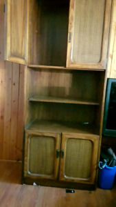 Two solid wood shelves