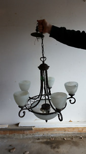 2 Matching Chandeliers and 1 Vanity Light