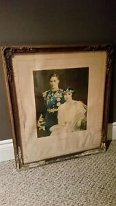 Original 1937 King George & Queen Elizabeth Portrait Print Kitchener / Waterloo Kitchener Area image 1
