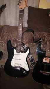 Fender squire strat and line 6 spyder2 amp