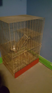 $100 obo - Large, small animal cage and accessories