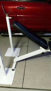 Weight bench and barbell stands
