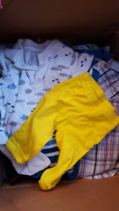 133 piece Boys 0-6 month clothing