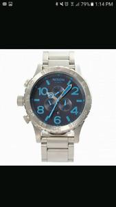 Brand New Genuine Nixon 51-30 Midnight Blue Men's Diving Watch