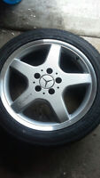 "Mercedes AMG OEM 17"" rims and brand new tires"