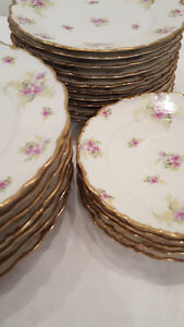 Elite Limoges pink and gold china