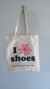 Charlotte Olympia - I LOVE CO SHOES Tote bag with printed logo