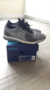 Size 8 men's ASICS grey sneakers (like new!) $20