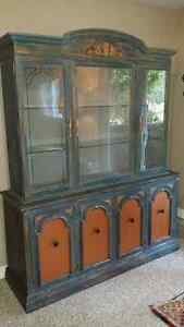 Absolutely Stunning Two Piece Buffet and Hutch