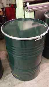 Steel Barrels / Drums 60 Gallon w/ Lids and Ring Clamps