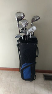 Golf clubs left handed with bag