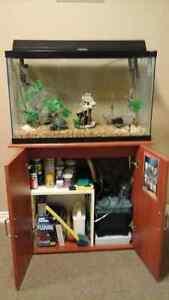 Aquarium 30 gallons  tout équipée avec meuble.. Gatineau Ottawa / Gatineau Area image 2