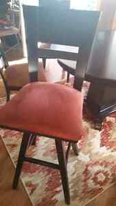 Solid Wood Black Table + 4 Table Chairs and 3 Island Chairs Regina Regina Area image 7