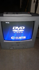 Portable Tv with built in dvd player and remote