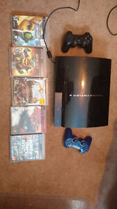 PS3 150GB, 2 controllers, 5 Games - $150