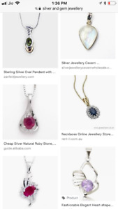 silver and gemstone jewellery at wholesale looking for sellers