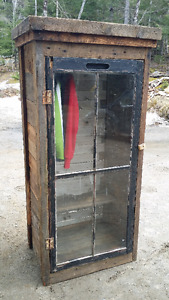 Armoire (closet) - one of a kind made from reclaimed barn wood