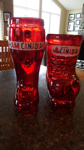 MOLSON CANADIAN - Boot Beer Stein and Hockey Skate Beer Stein
