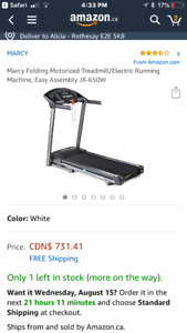 Foldable Treadmill.  No incline. Great treadmill 6 month old