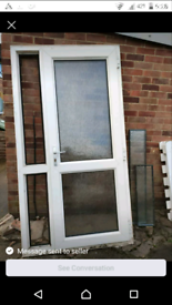 External upvc door complete with side panel lock and key