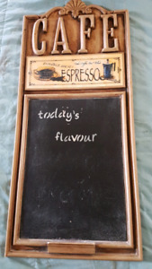 Coffee Themed Ceramic Hanging Chalboard