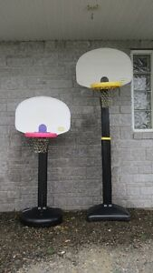 2- LITTLE TIKES BASKETBALL NETS (used) (yellow one sold )