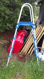 Above Ground pool ladder.