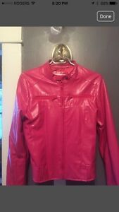Funky Pleather Deep pink fashion Jacket