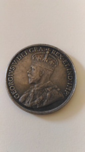 1921 Canada .50c Fifty Cent Coin