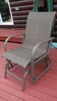 2 glider patio chairs