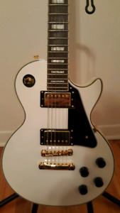 epiphone les paul custom pro alpine white 2015