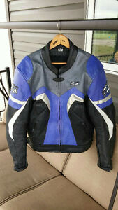 EXL Leather Motorcycle Riding Jacket and matching Gloves