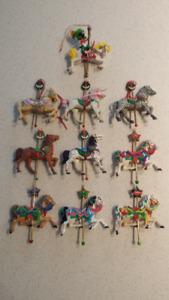 Vintage Carousel Horse Christmas Ornaments