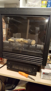 Electronic fireplace insert