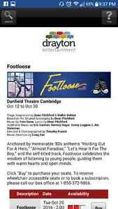 Footloose at the dunfield, trade 2 sat tix for 2thurs tix