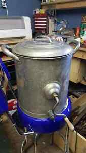 Antique Steel butter churn in near mint condition!