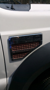 F-450 truck cab with power tailgate