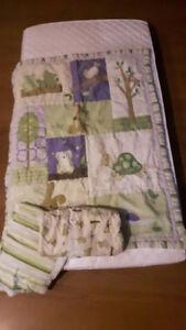 3  piece reversible crib bedding set