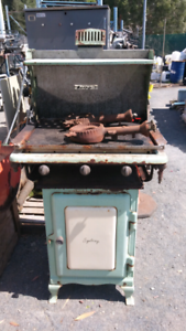 Vintage fuel stove converted to gas bbq Ballina Ballina Area Preview