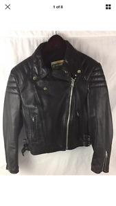 Vtg 60s/70s leather motorcycle jacket
