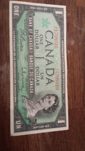 Old $1 Canadian Bill