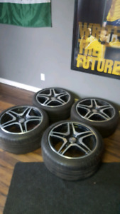 """19"""" OEM STAGGERED AMG WHEELS FROM A 2012 CLS 63AMG!"""