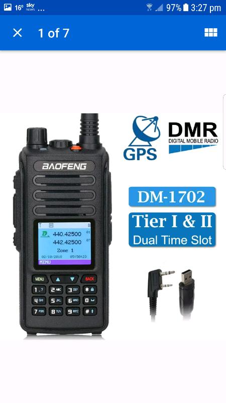 Baofeng DM-1702 is a DMR dual-slot digital walkie talkie   in Cramlington,  Northumberland   Gumtree