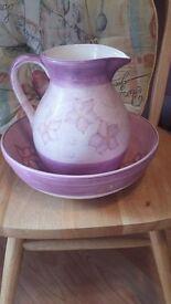 Large Lilac Bowl and jug set