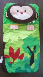 Sillies Monkey Sleeping Bag w/ Plush Pillow Set